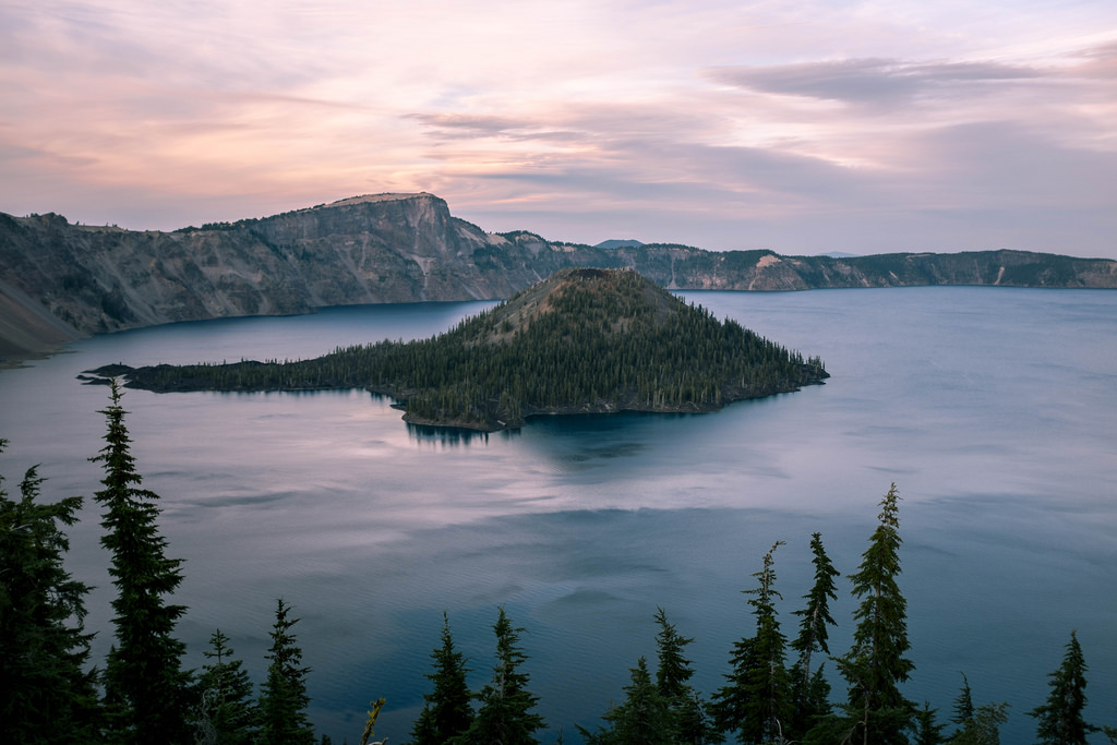 """Crater Lake, Dusk"" by Leonard Lin via Flickr Creative Commons"