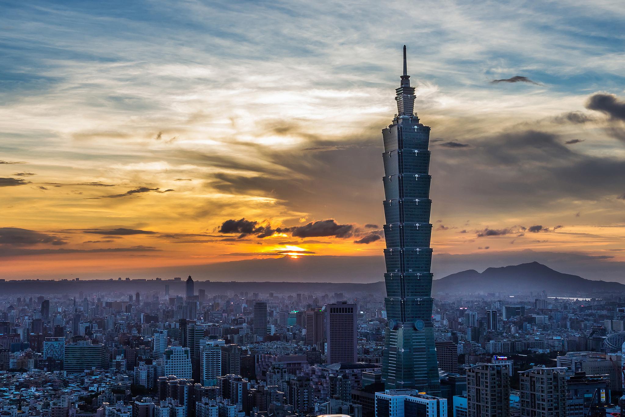"""Taipei 101 During Sunset"" by Tsaiian via Flickr Creative Commons"