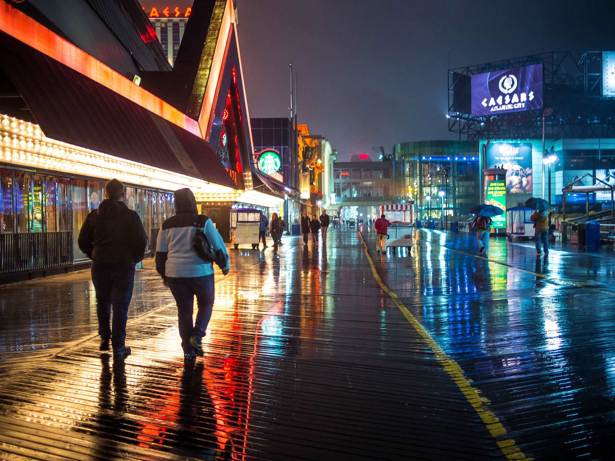"""Atlantic City Boardwalk at Night"" by Dave Buchhofer via Flickr Creative Commons"