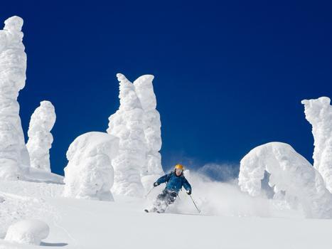 David marx photo 010898 skiing through snow ghosts