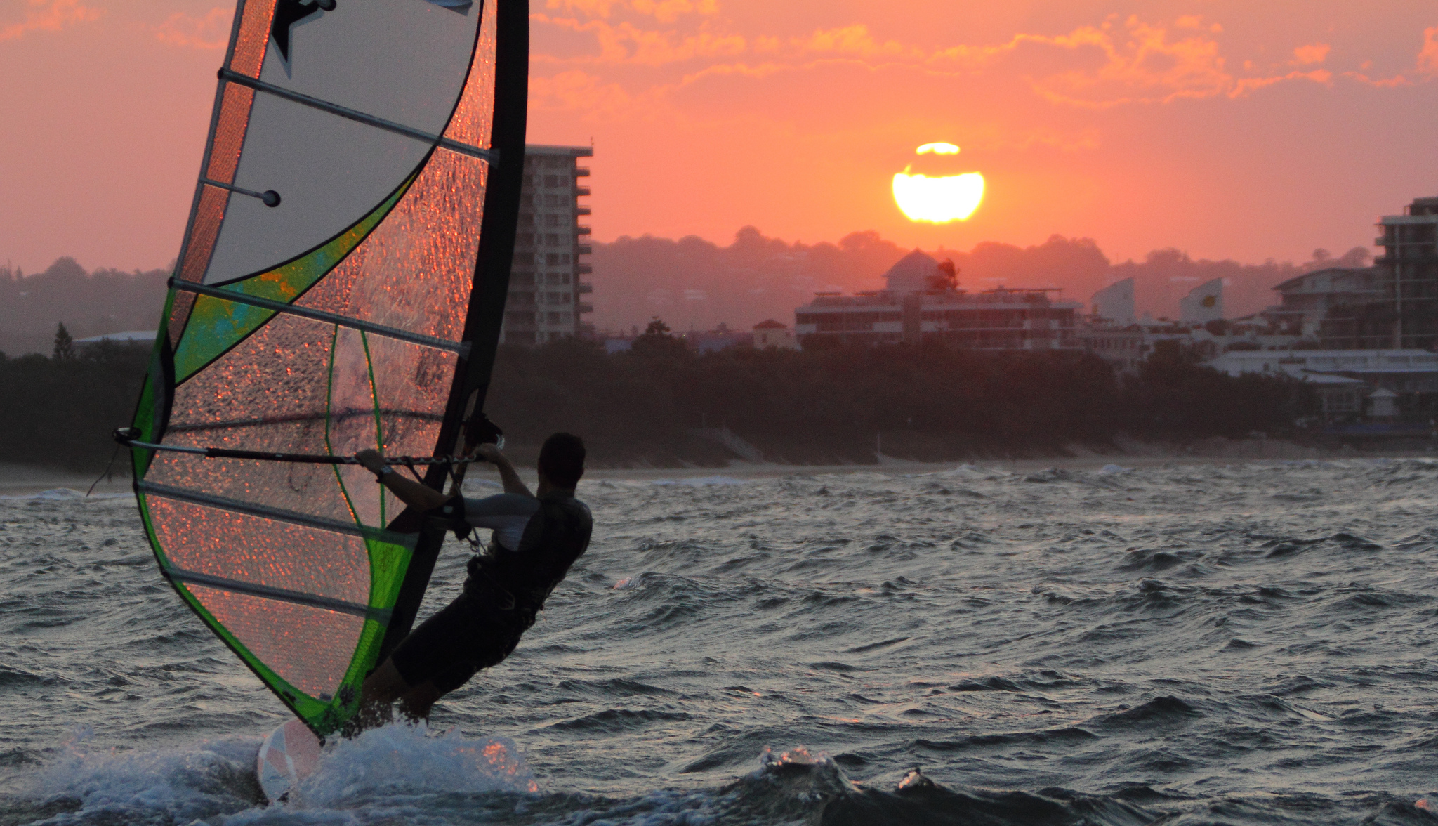 """Windsurfing Mooloolaba"" by Texaus1 via Flickr Creative Commons"