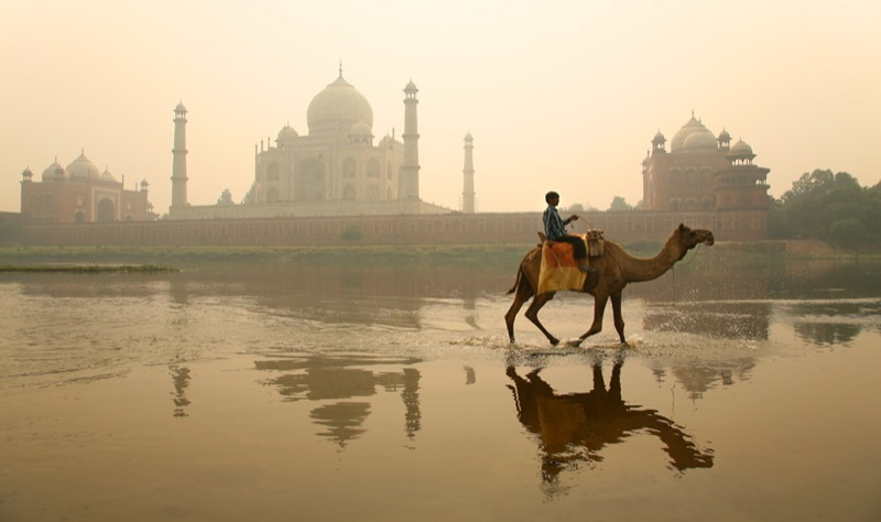 """Taj Mahal, from across the Yamuna"" by Michael Foley via Flickr Creative Commons"