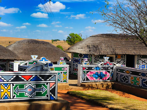 Ndebele village south africa