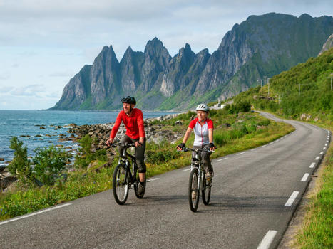 Cycling  relax biking in norway