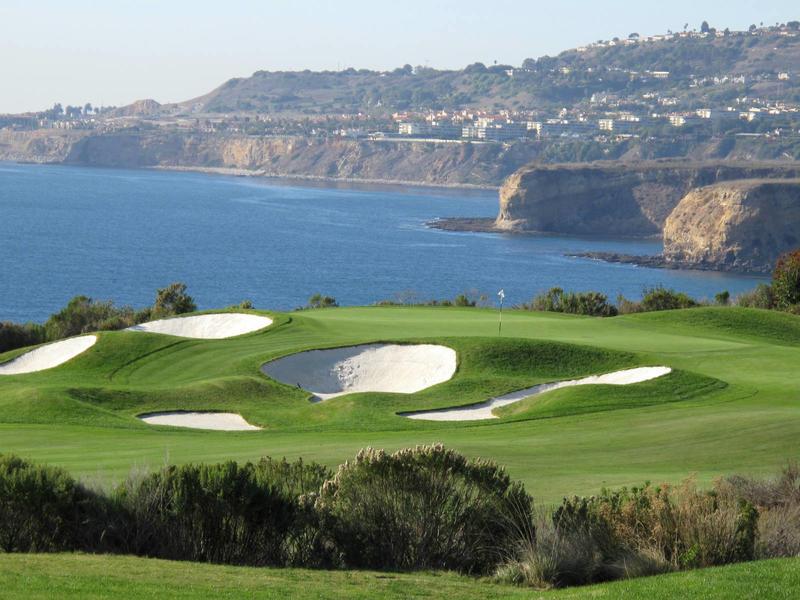 Golfing  trump national golf course in palos verdes california