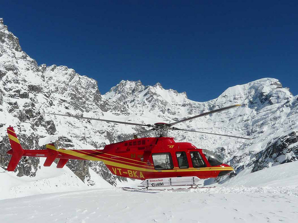 """""""Helicopter Shot"""" by Total Heliski via Flickr Creative Commons"""