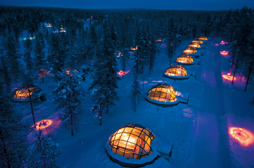 """""""Magical Sceneries in Kakslauttanen Igloo Village"""" by Visit Finland via Flickr Creative Commons"""