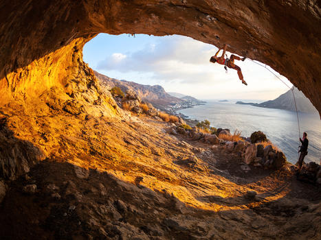 Cave cave at kalymnos  greece
