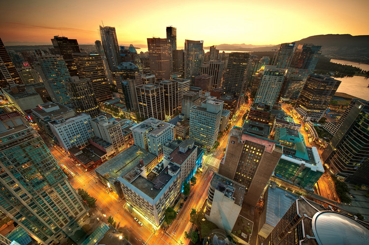 """Downtown Vancouver Sunset"" by Magnus Larsson via Flickr Creative Commons"
