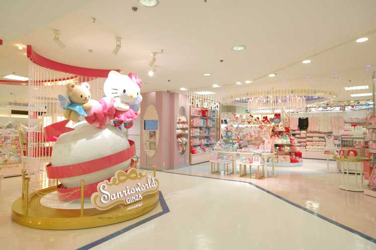 A shopper's paradise for Hello Kitty fans: Tokyo's Sanrioworld Ginza.  Photo Credit: Sanrio
