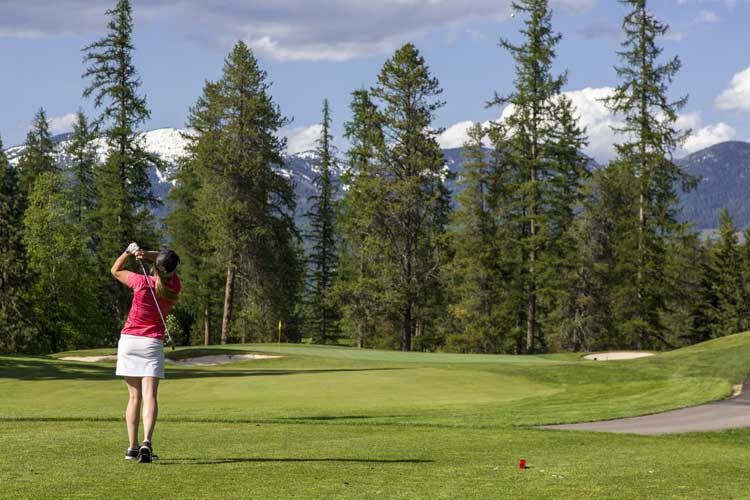 Whitefish is home to the incredible 36-hole Whitefish Golf Course. Photo © ChuckHaney.com / Whitefish CVB