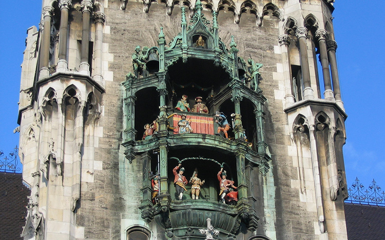 The Glockenspiel in Munich, Photo Credit: Allen Brewer