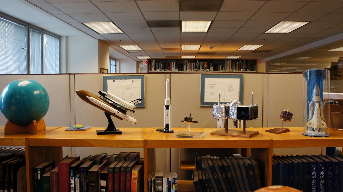 """NASA HQ Library Artifact and Miniature Collection"" by Brownpau via Flickr Creative Commons"