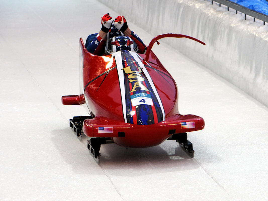 """WCAP Sgt. Rohbock strikes World Cup Gold on Bobsled Farewell Tour"" by U.S. Army via Flickr Creative Commons"