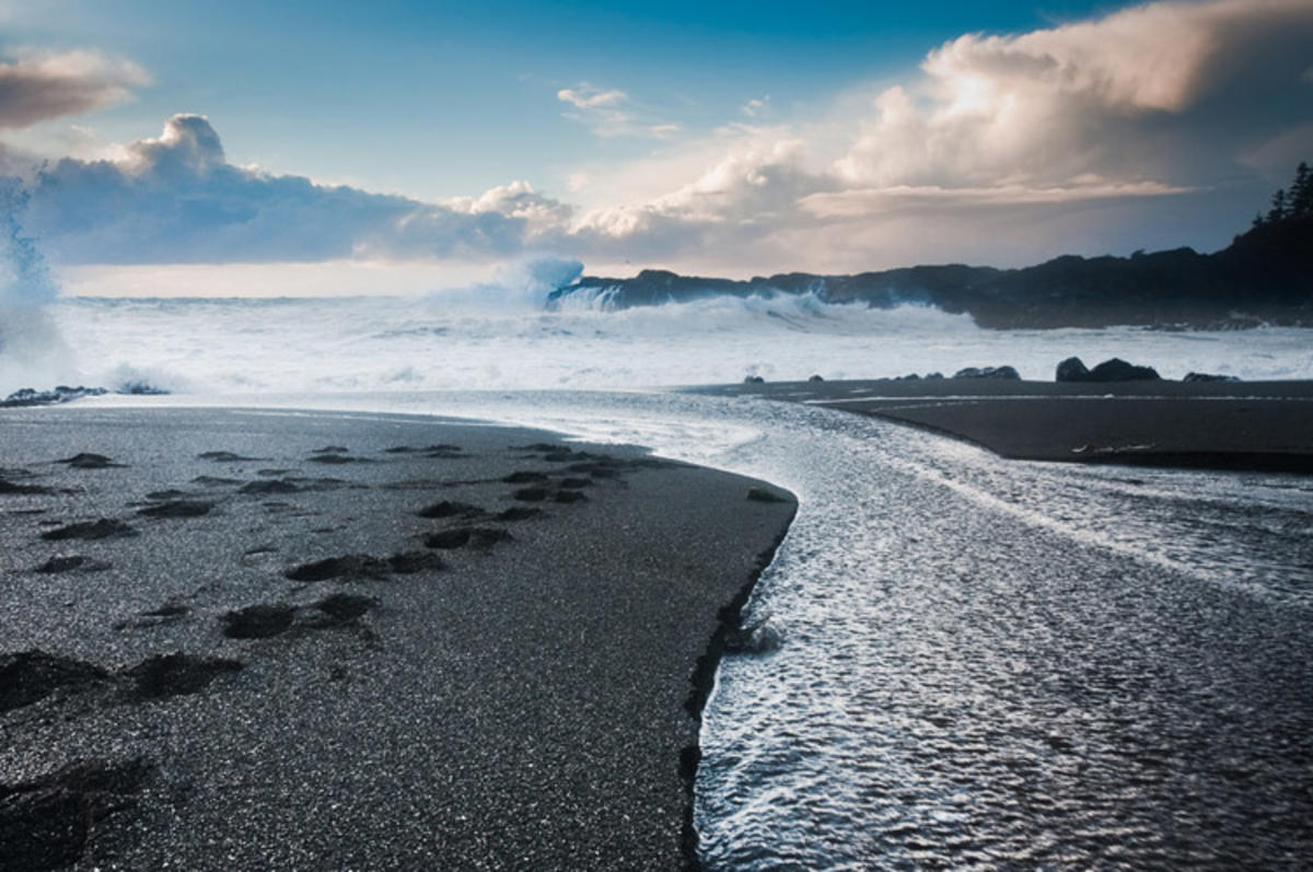 """""""Stream Cutting though Beach, Breakers in the Distance"""" by Colin Knowles via Flickr Creative Commons"""