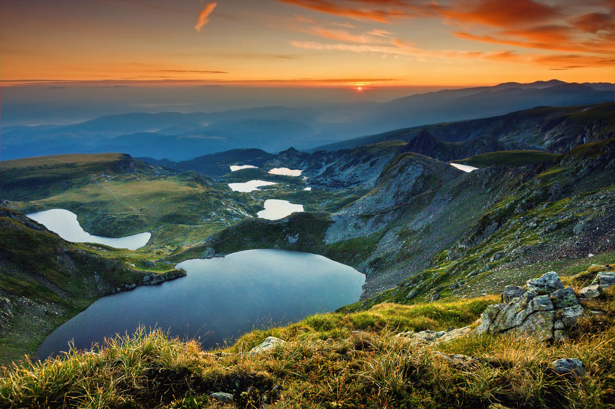 Seven Rila Lakes in Rila Mountain by Filip Stoyanov