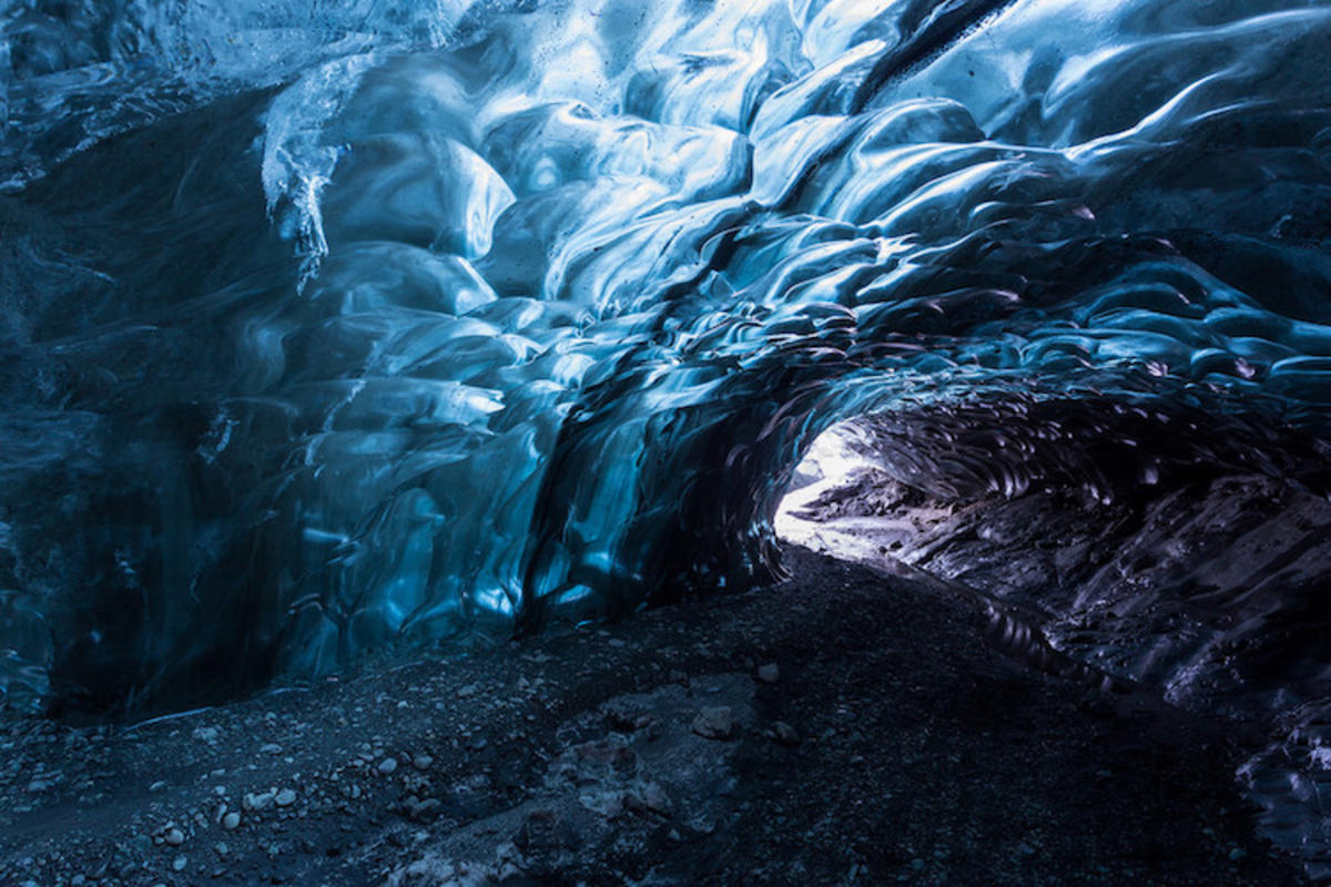 """Ice caving under the Vatnajökull Glacier, Iceland"" by David Phan via Flickr Creative Commons"