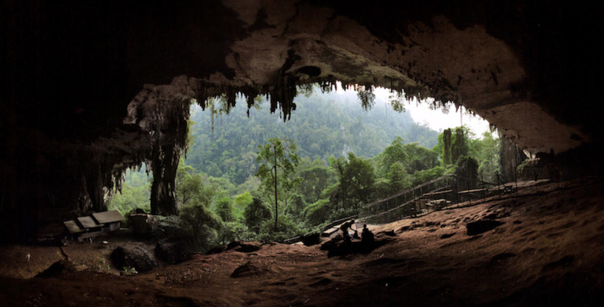 """""""The Entrance to the Main Cave at Niah Caves National Park"""" by Starlightchild via Wikipedia"""