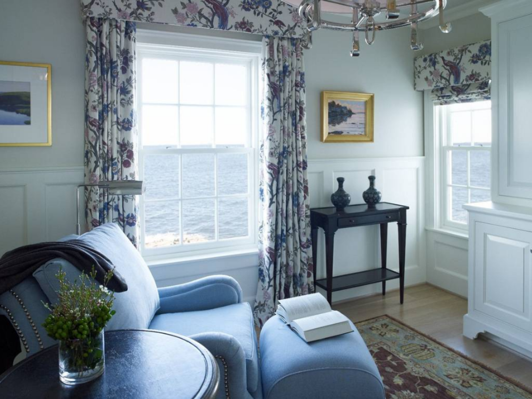 The luxurious accommodations at The Inn at Cuckolds Lighthouse will make you feel right at home. Photo Credit: The Inn at Cuckolds Lighthouse