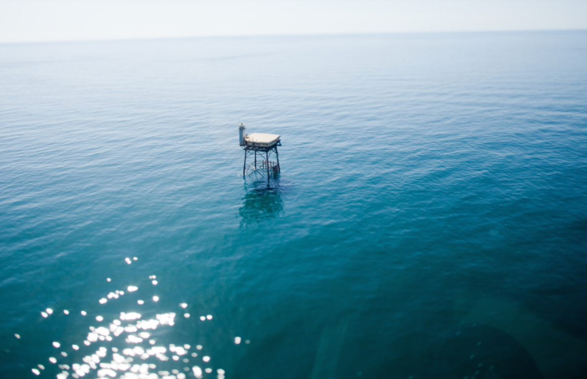 Located more than 30 miles from land, Frying Pan Tower is only accessible by boat or helicopter. Photo Credit: Frying Pan Tower