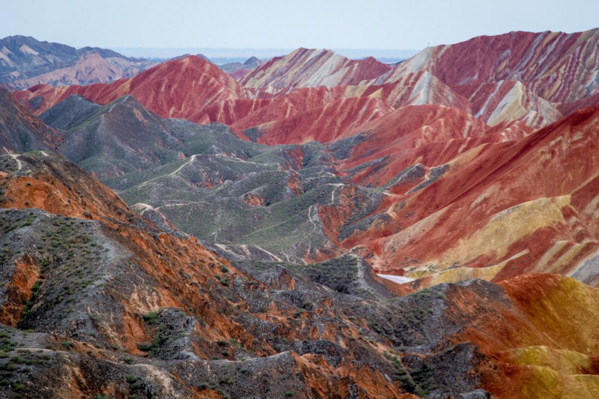 Did Van Gogh paint these Chinese mountains? Photo Credit: P Bibler via Flickr