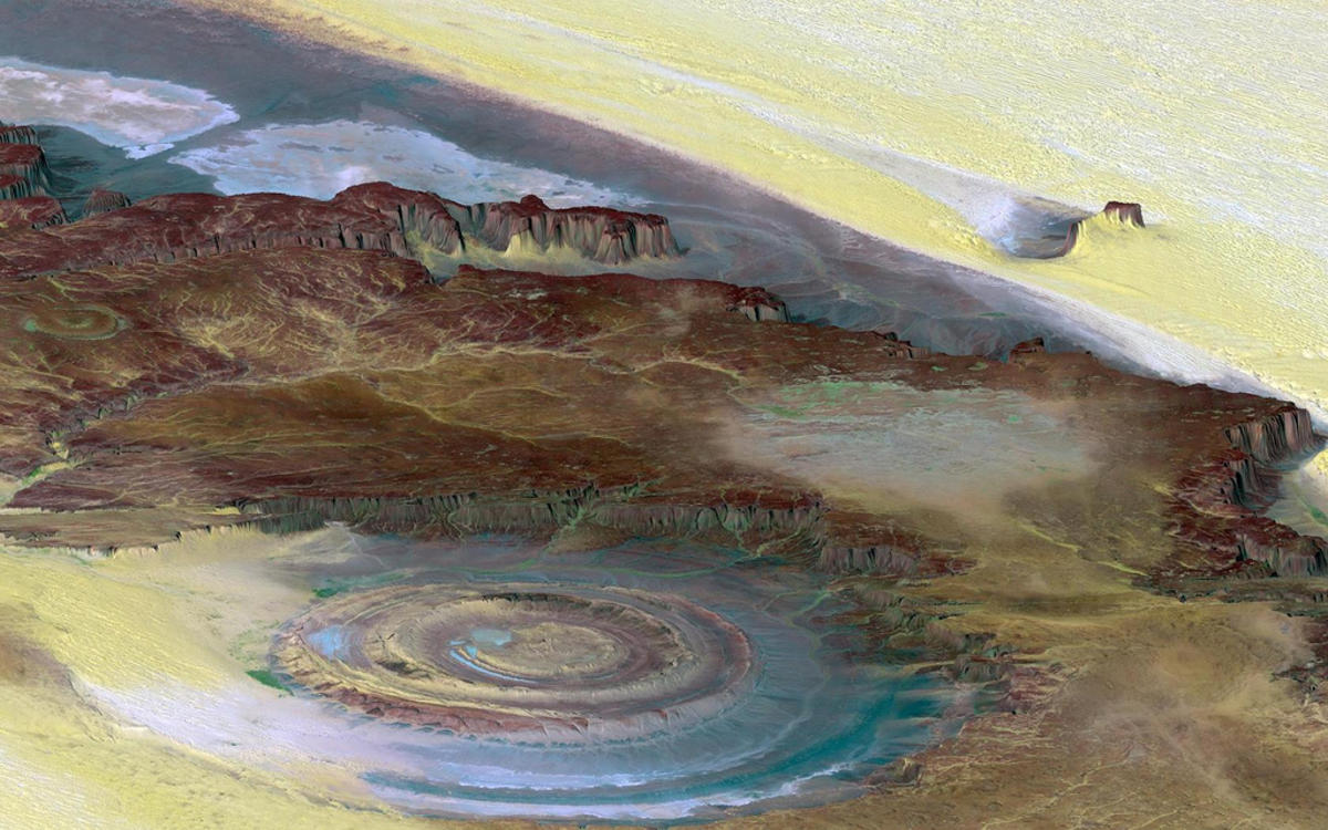 Early astronauts used the Richat Structure (also known as the Eye of Africa) as a navigational tool. Photo Credit: Jim Trodel via Flickr