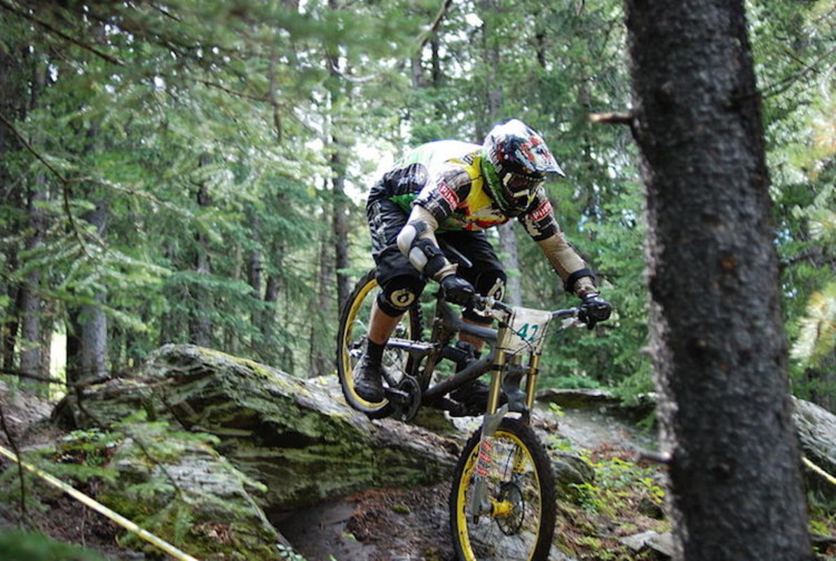 """Mountain Bike in Downhill Race"" by Paul Jerry via Wikipedia"
