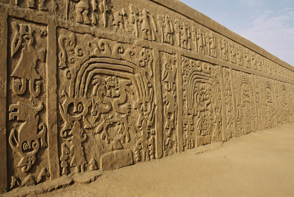 """Wall in the Huaca Dragon"" by AgainErick via Wikimedia Commons"