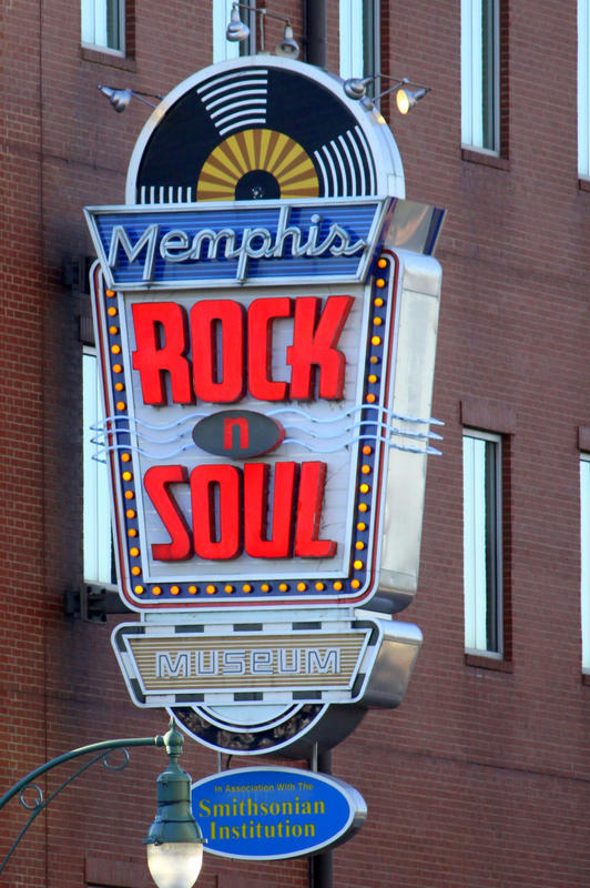 """Memphis Rock n Soul Museum Neon Sign"" by Brent Moore via Flickr Creative Commons"