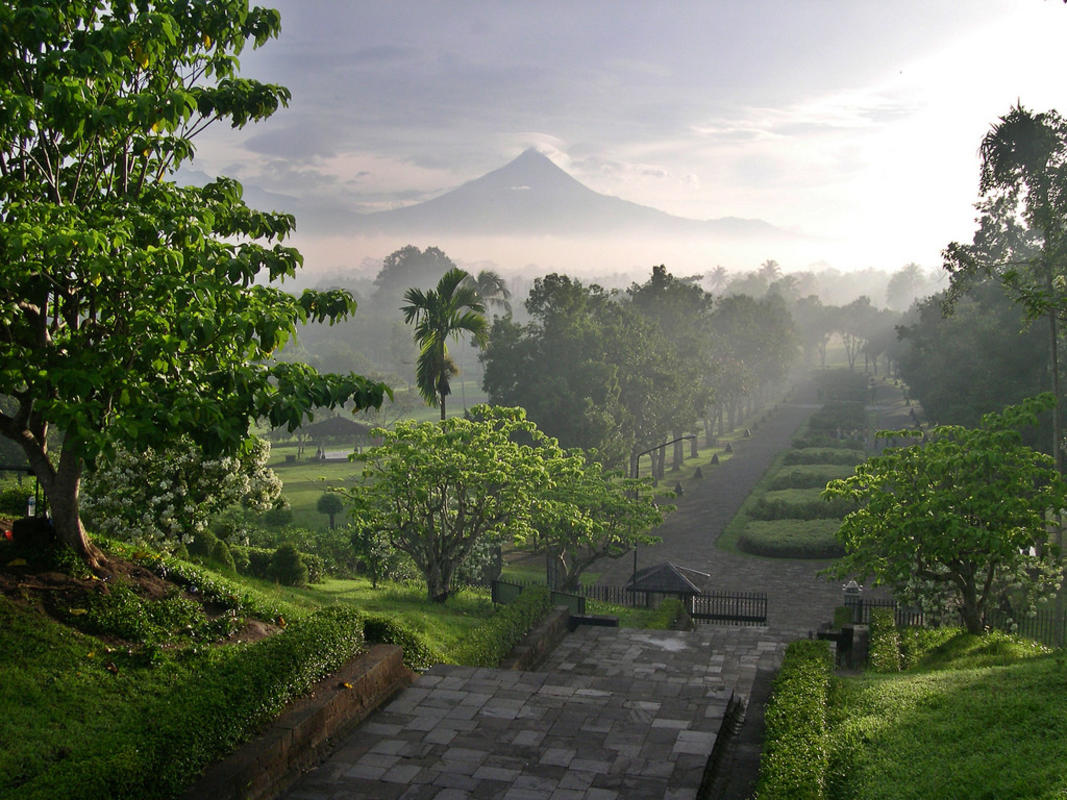 """Merapi from Borobudur Temple"" by Marc-André Jung via Flickr Creative Commons"