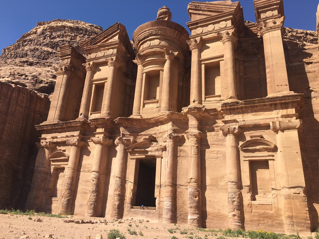 You'll have to climb up 800 steps to see Petra's Monastery. (Photo Credit: © Joni Sweet)