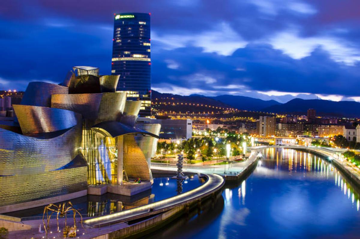 """Guggenheim at Night"" by Taftazani via Flickr Creative Commons"