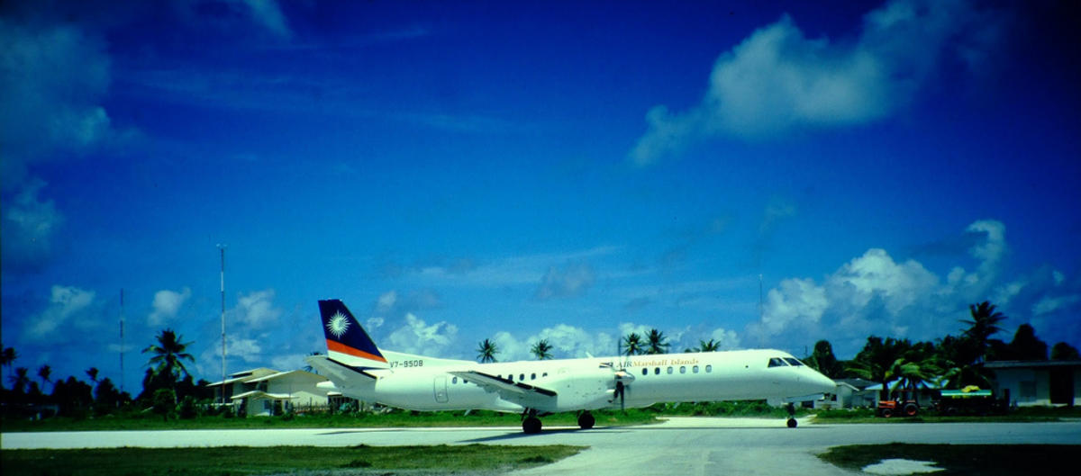 """Air Marshall Islands @ Funafuti Airport Tuvalu"" by Xmyrxn via Flickr Creative Commons"