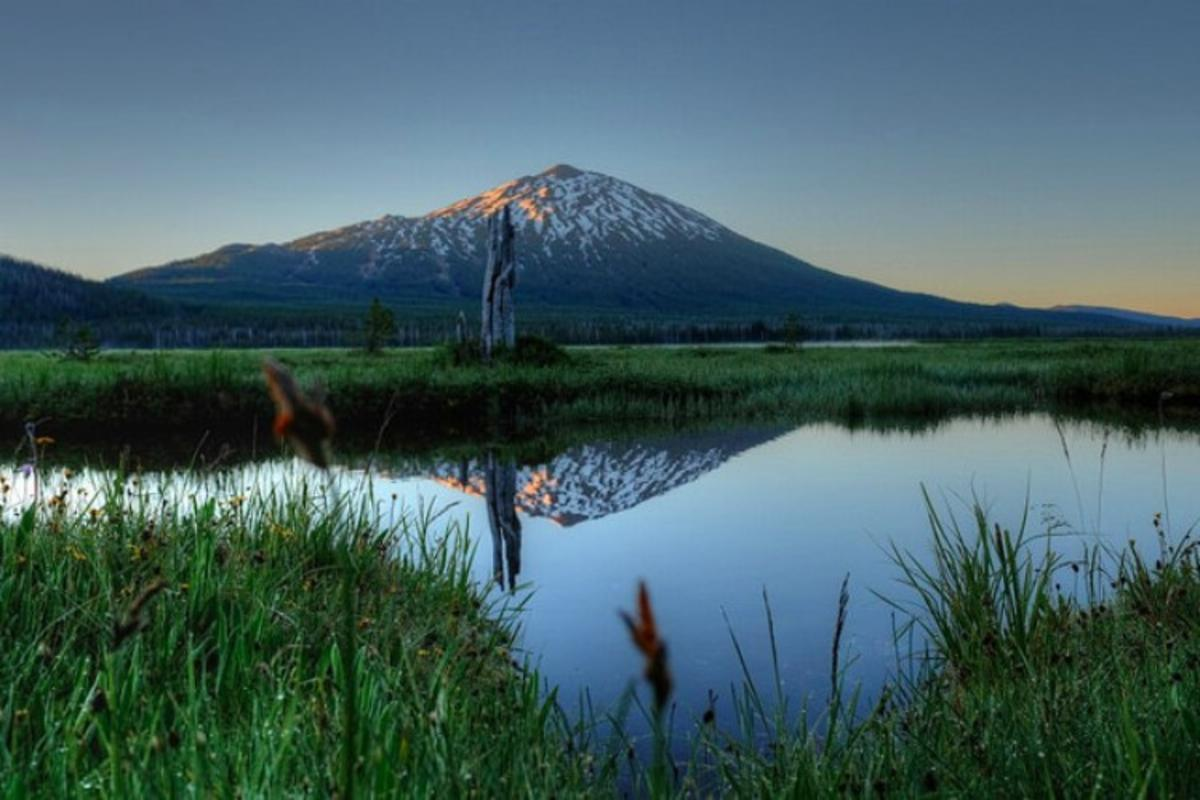 """Sunrise at Mount Bachelor"" by David Kidd via Flickr Creative Commons"