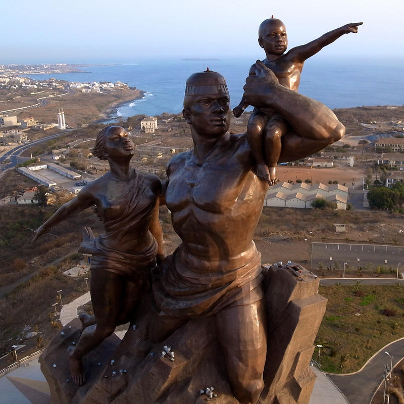 """African Renaissance Monument - From Above"" by Jeff Attaway via Flickr Creative Commons"