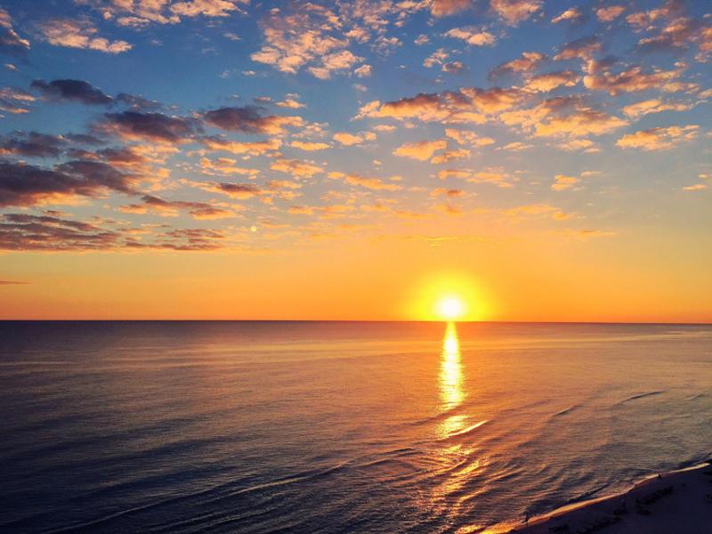 Panama city beach sunset