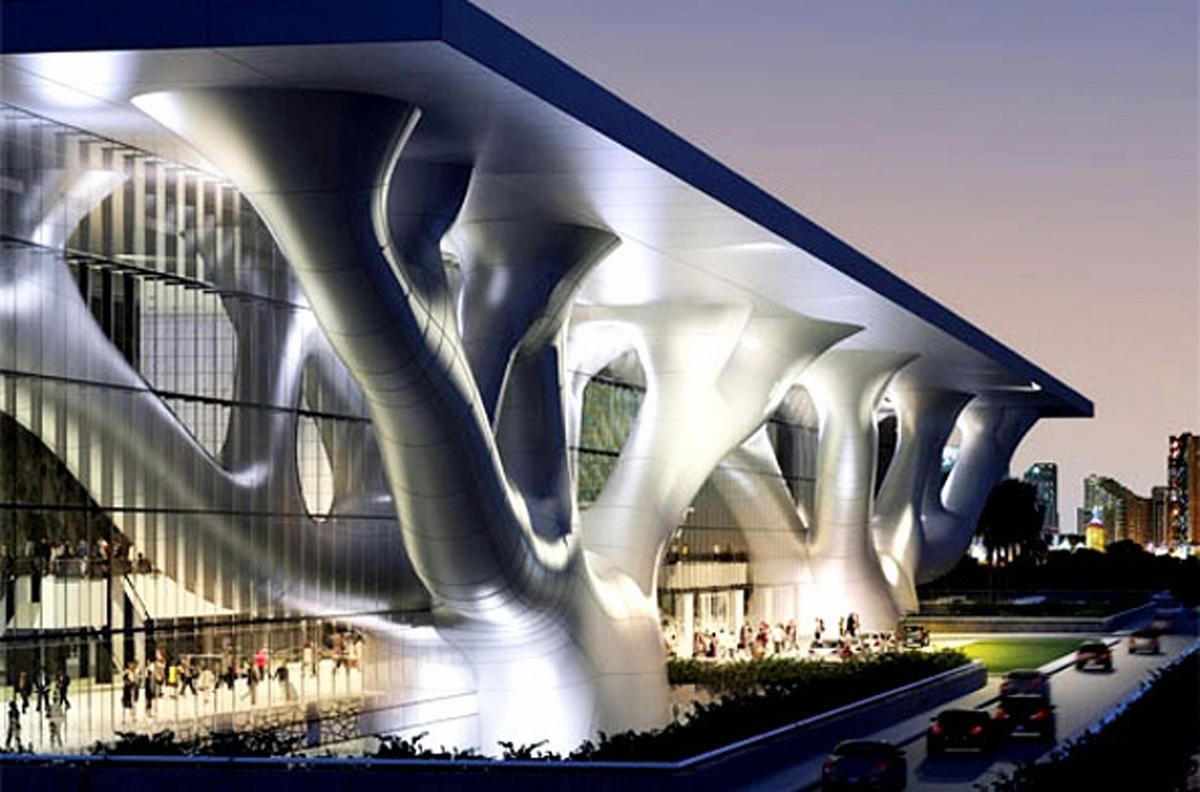 Qatar National Convention Center - Doha, Qatar. An exemplary work of organic  architecture ...