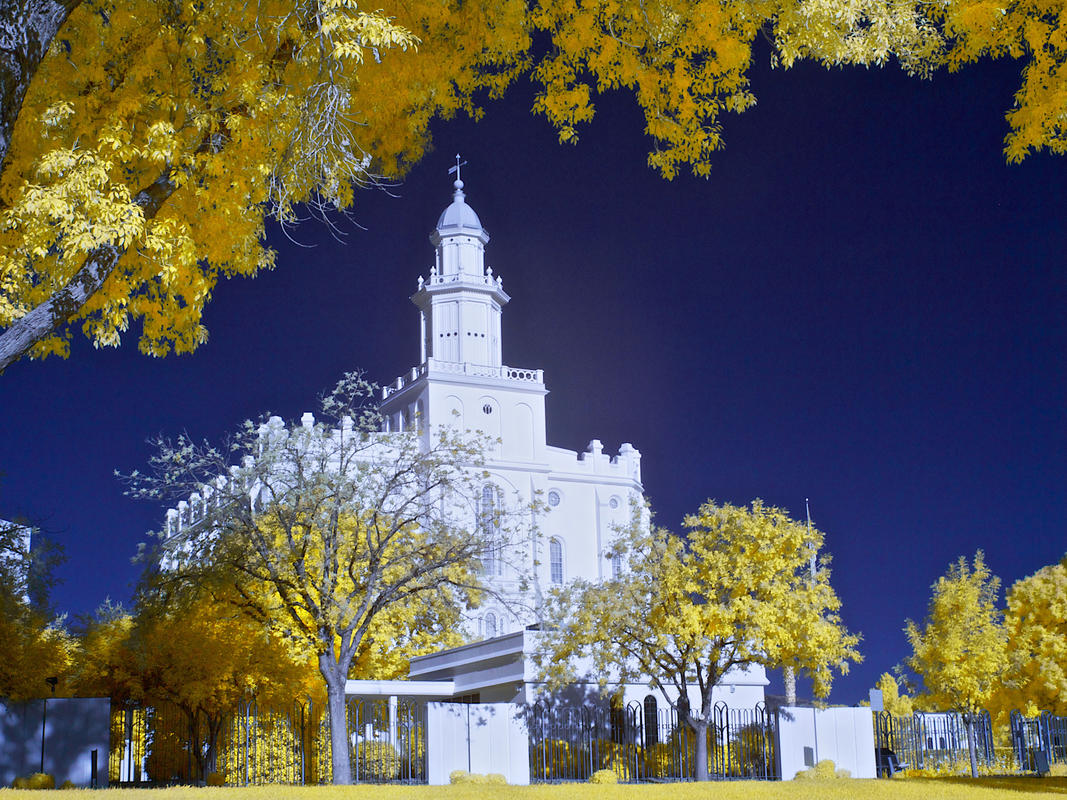 """St George Latter Day Saint Temple"" by Carl Berger Sr via Flickr Creative Commons"