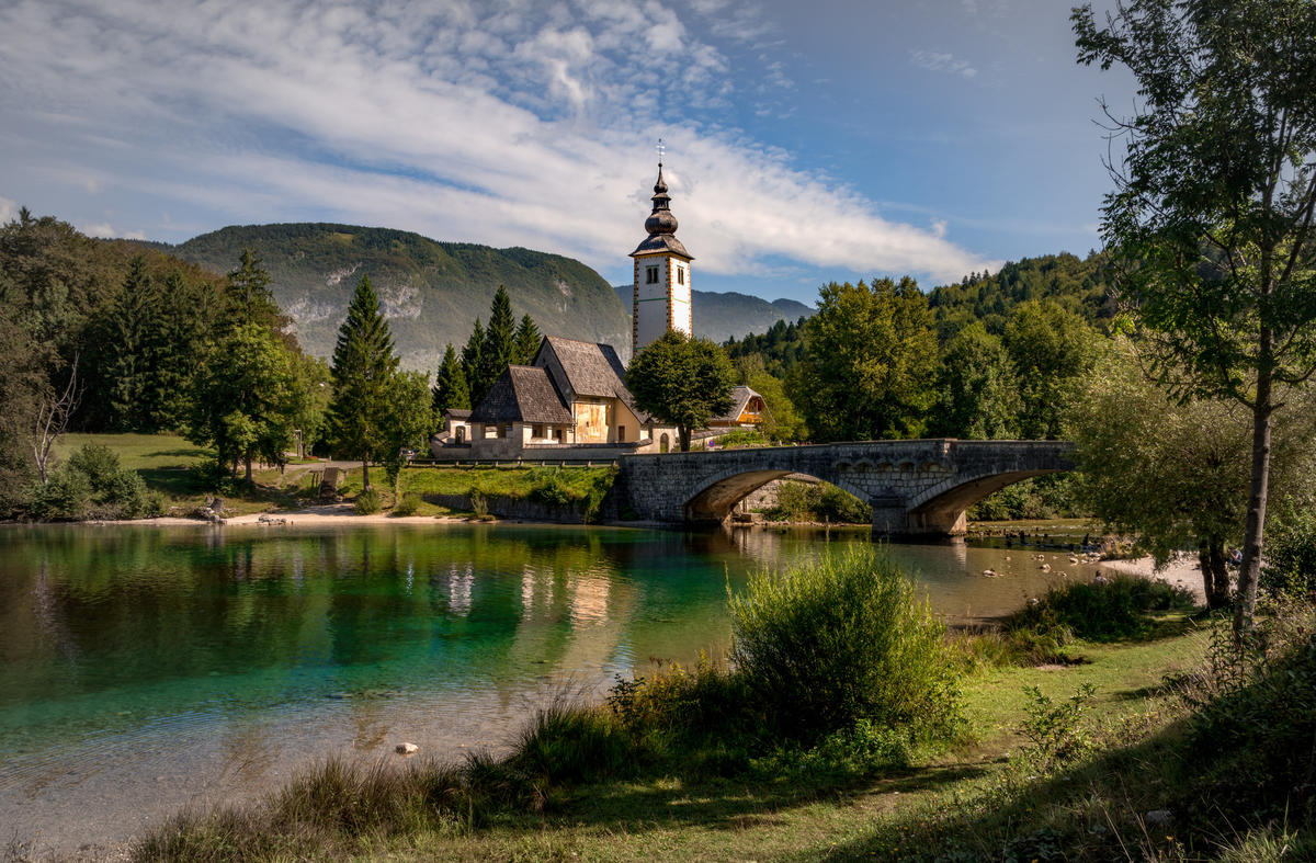 Postcard View of Bohinj Lake by Bernd Thaller via Flickr Creative Commons