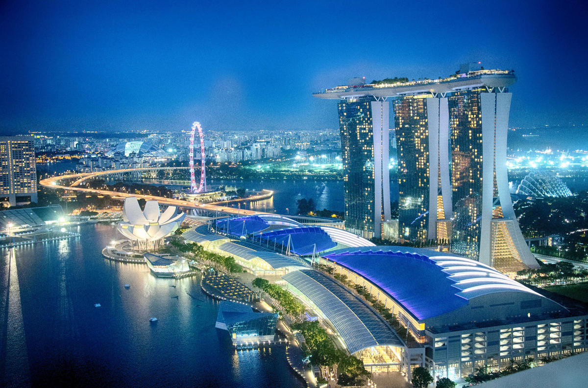 Singapore Skyline around Gardens by the Bay by Eustaquio Santimano via Flickr Creative Commons