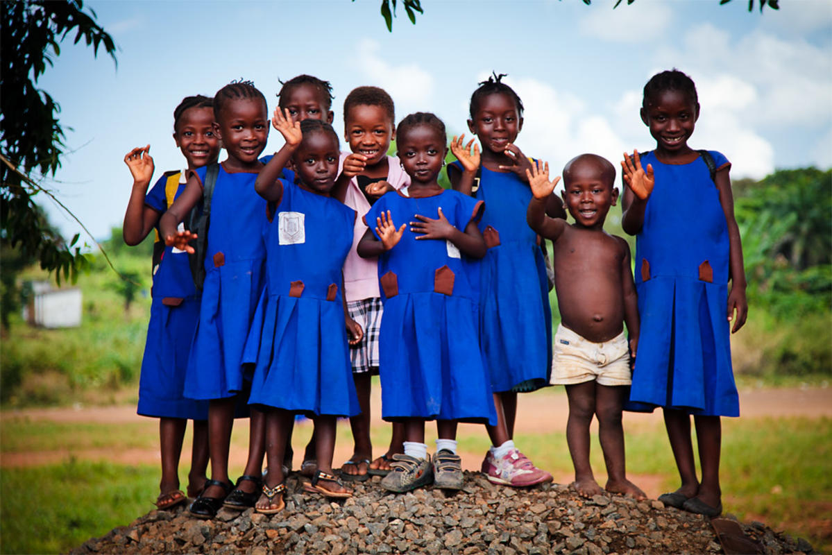 School Children in Sierra Leone by bobthemagicdragon via Flickr Creative Commons