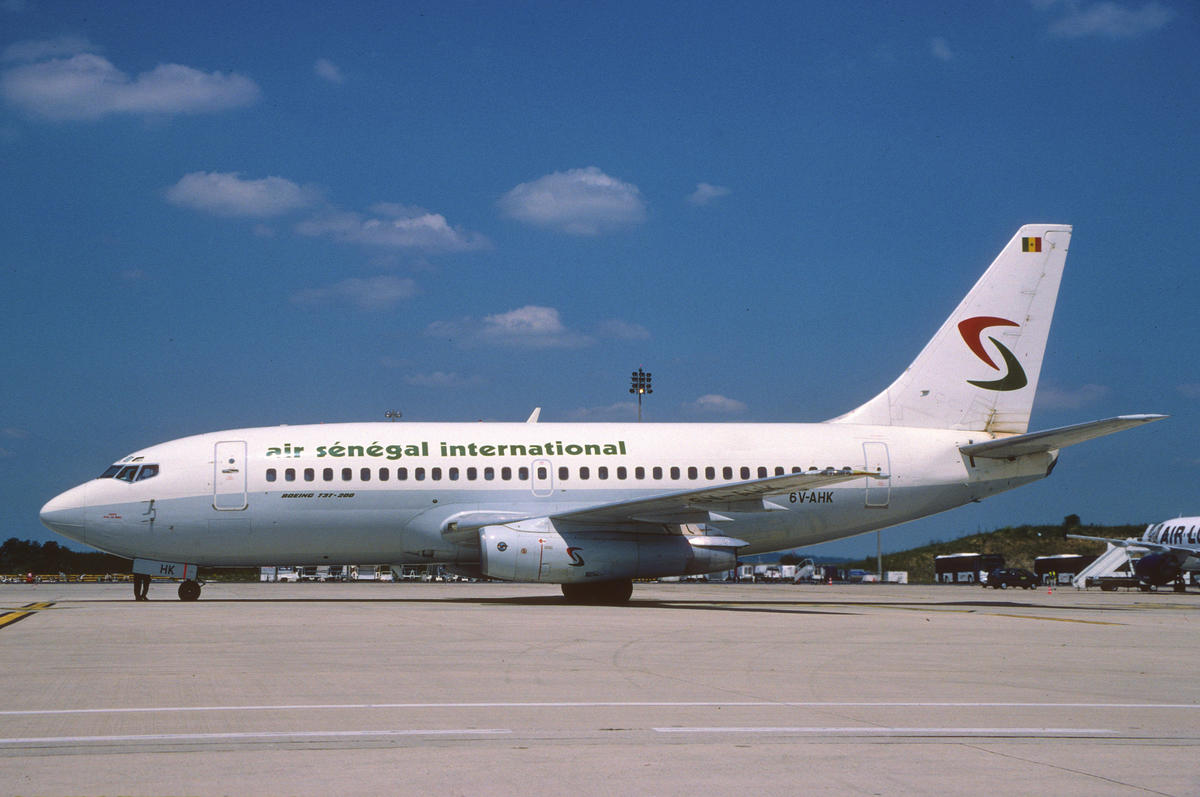 Air Sénégal International Boeing 737-200; 6V-AHK, July 2002 by Aero Icarus via Flickr Creative Commons