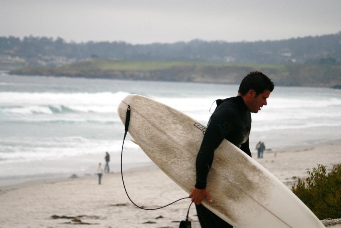 """Carmel, Surfing at Beach"" by Visit California"