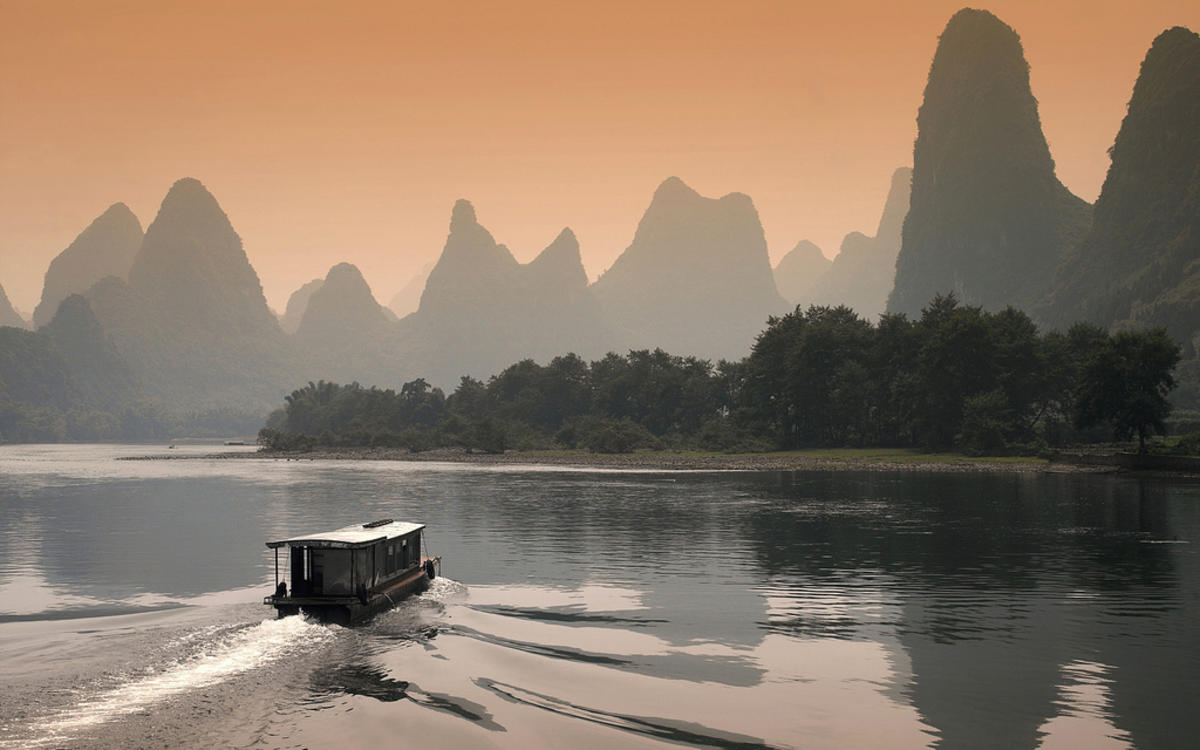 """Li River at Dusk in Guilin, China"" by Edward Poon via Flickr Creative Commons"