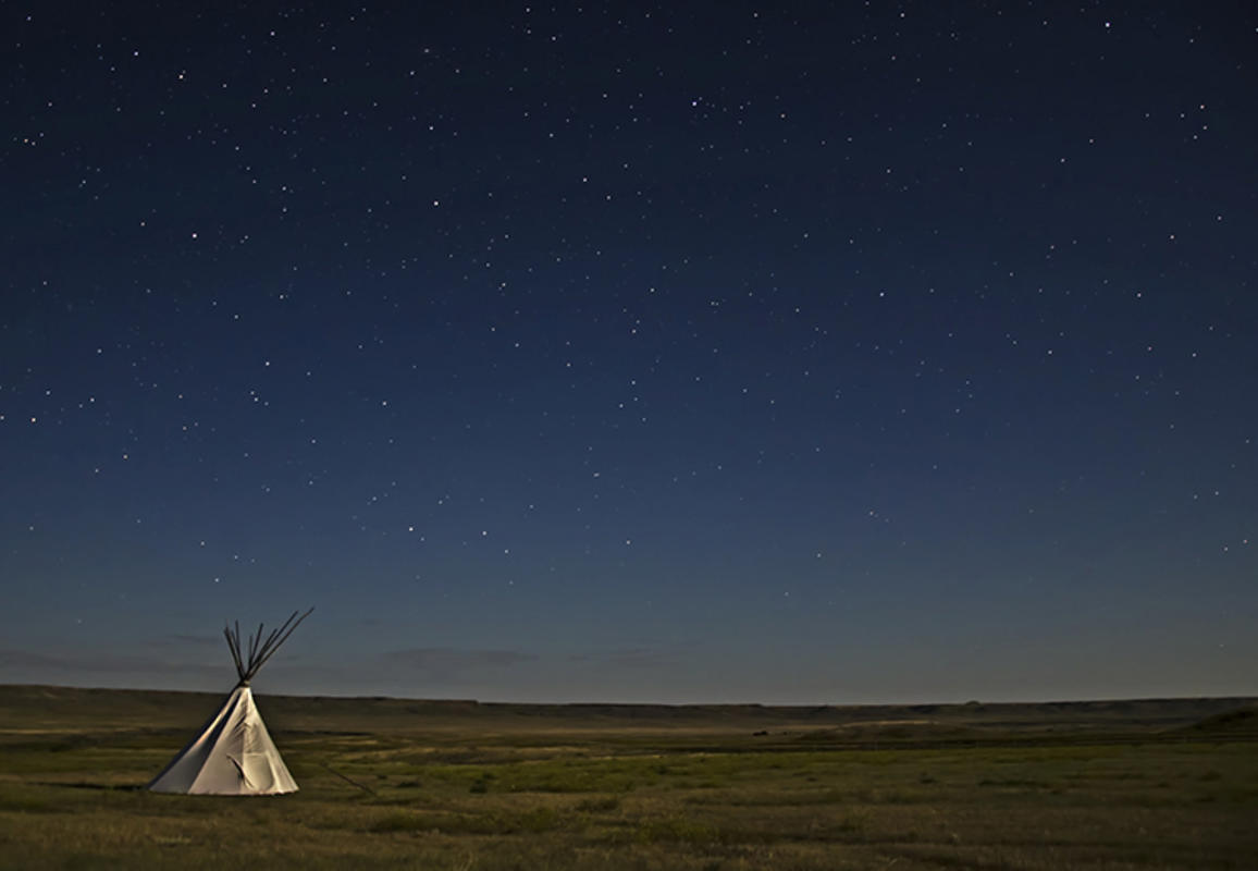 """Moonlit Tipi on the Grasslands"" by Terry Lawson via Flickr Creative Commons"