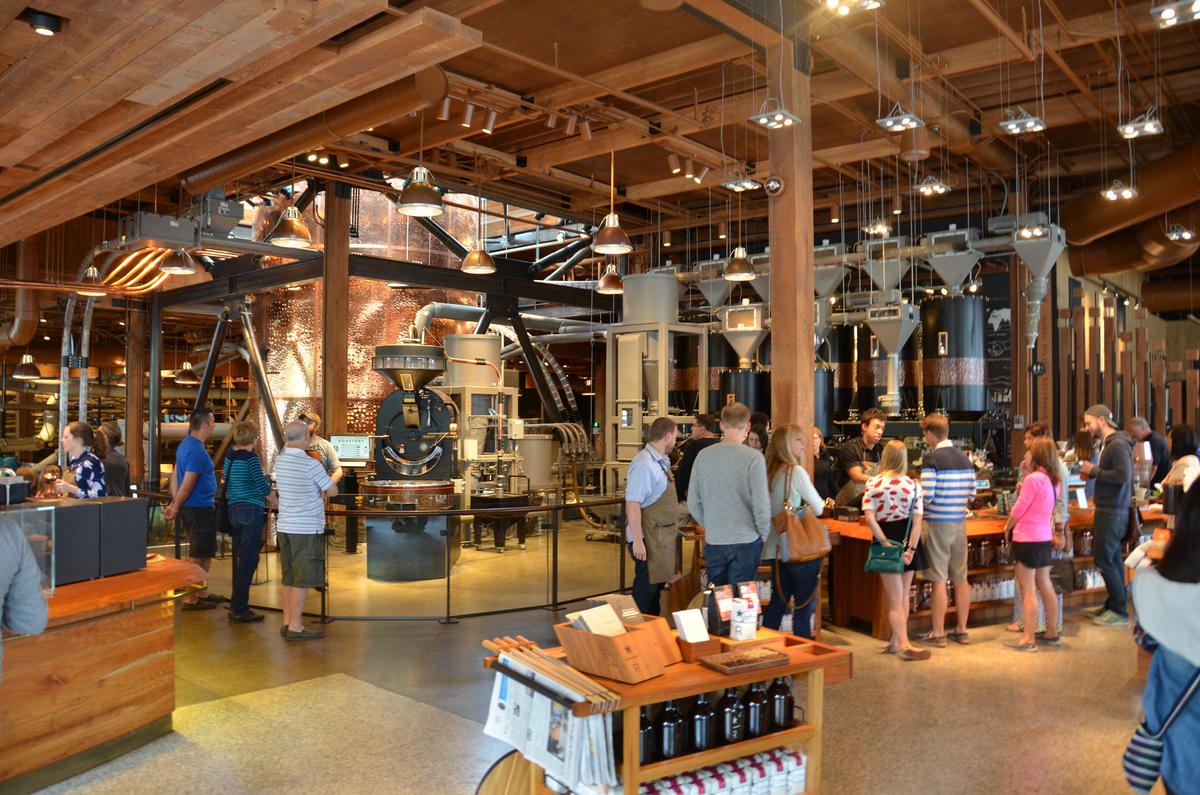 """Starbucks Reserve Roastery & Tasting Room"" by Rob Bertholf via Flickr Creative Commons"