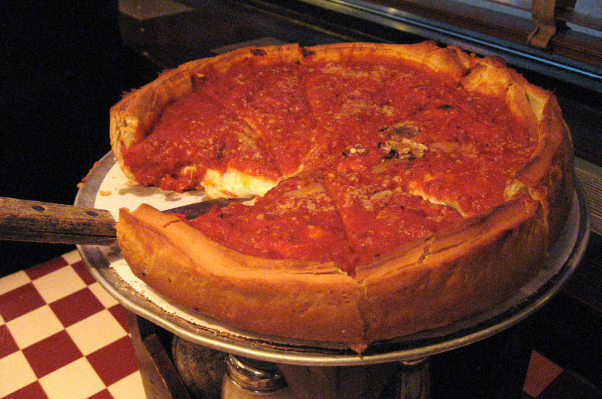 """Medium Stuffed Deep Dish Giordano's Chicago Pizza"" by Josh Bancroft via Flickr Creative Commons"