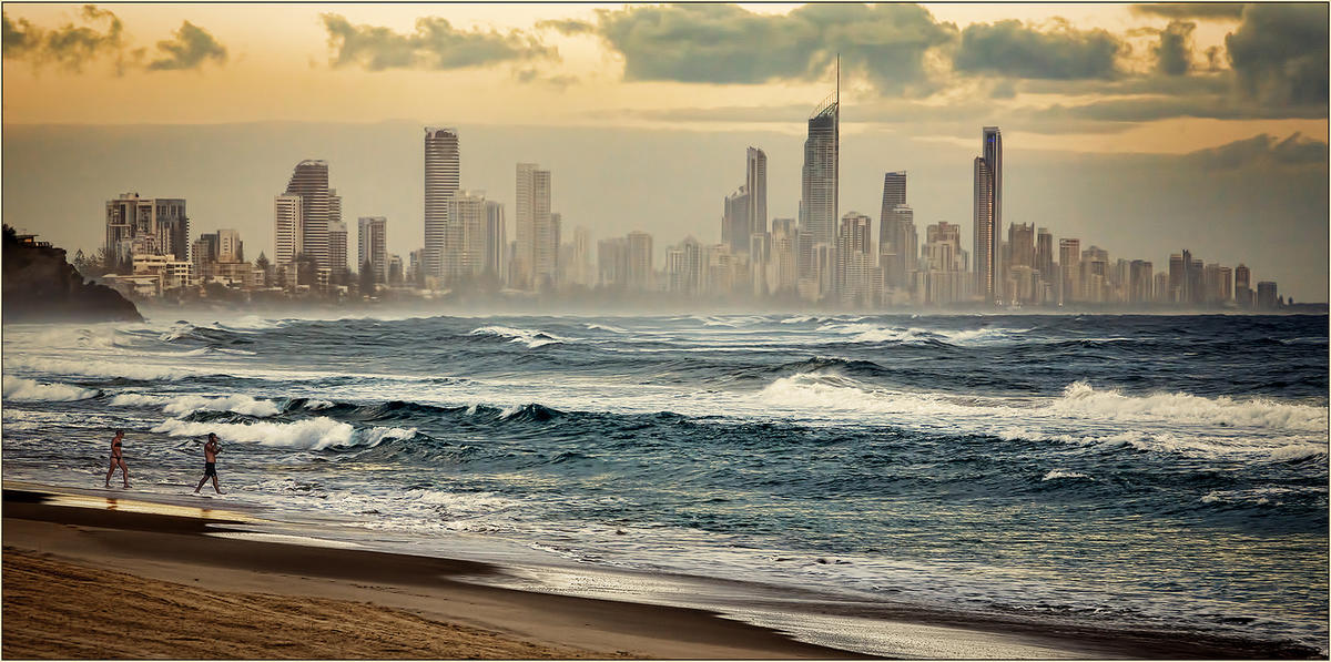 Surfer's Paradise from Burleigh Heads by Rex Boggs via Flickr Creative Commons