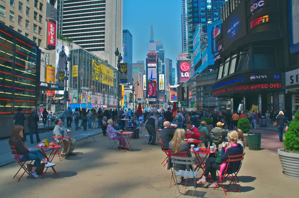 """A Great Place for Lunch in NYC: Times Square"" by Ed Yourdon via Flickr Creative Commons"