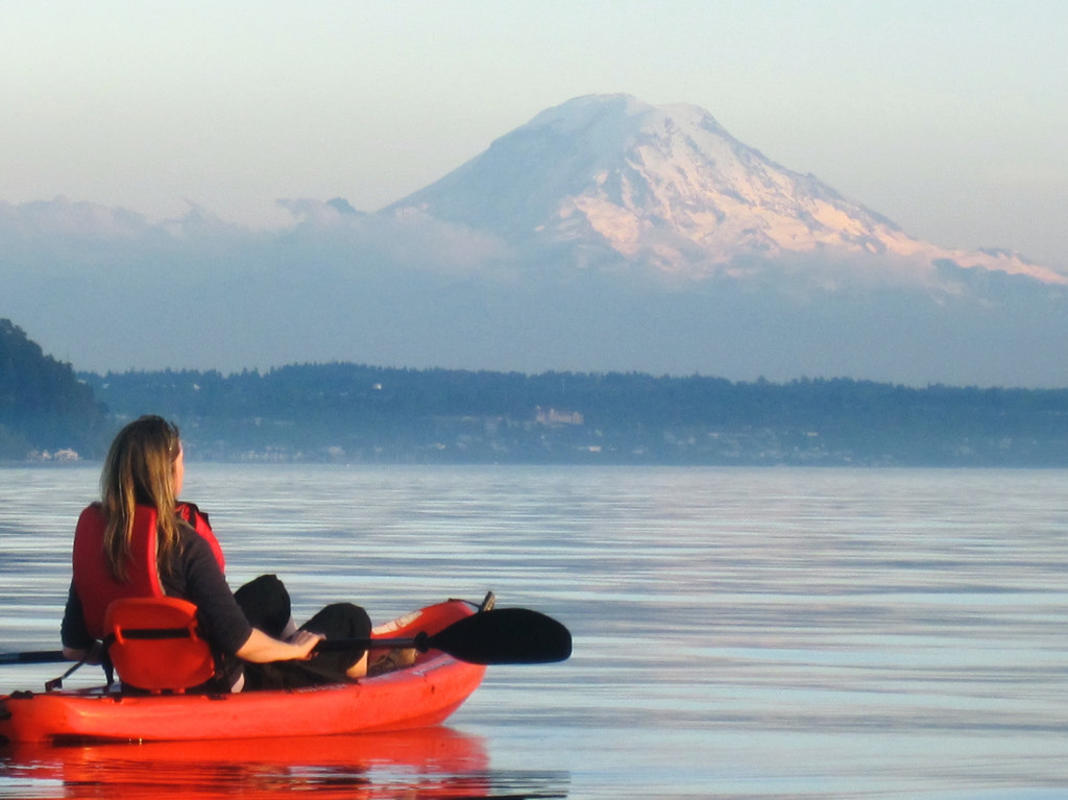 """Sunset Paddle on Puget Sound"" by Ingrid Taylar via Flickr Creative Commons"